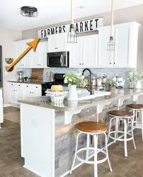kitchen top cabinets decor 20 stylish and budget friendly ways to decorate above