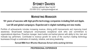 Sample Resume Marketing Executive by How To Write A Resume Summary That Grabs Attention Blue Sky