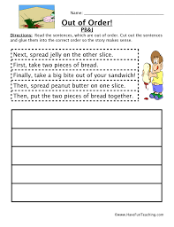 sequencing worksheet making a sandwich have fun teaching