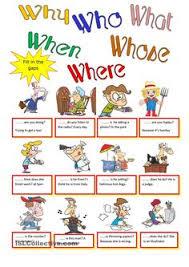 question words cards preguntas wh words pinterest