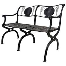 Cast Aluminium Outdoor Furniture by Cast Aluminium Garden Settee With Seahorse And Shell Motif Molla