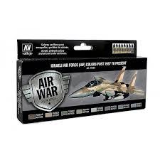 model air paint set israeli air force iaf colors post 1967 to