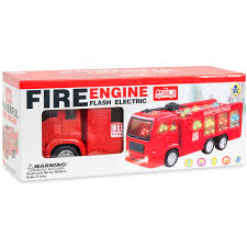 best choice products toy fire truck electric flashing lights and