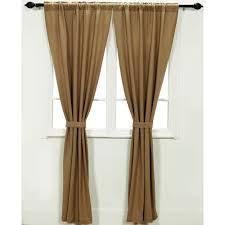Linen Burlap Curtains Burlap Natural Panel Set Of 2 84x40 Walmart Com