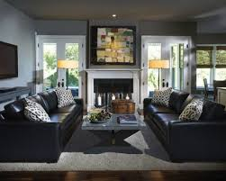 Decorate Living Room Black Leather Furniture Living Room Design With Black Leather Sofa Best 25 Black Leather