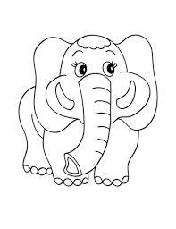 print u0026 download elephant coloring