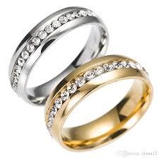 crystal diamond rings images 316l stainless steel crystal wedding rings row diamond gold ring jpg