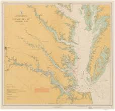Map Of The Southern States by Historical Nautical Charts Of The Southern Part Of The Chesapeake Bay