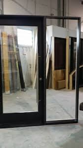 exterior modern fiberglass doors with clear glass and side lite