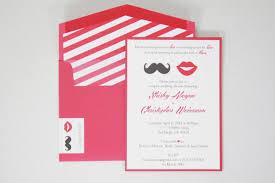 co ed bridal shower invitations mustache u0026 lips