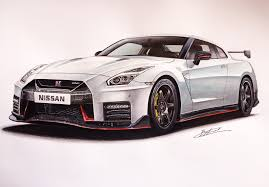 Nissan Gtr Nismo 2017 Drawing Supercar By Filo Pinterest