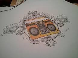tattoo boombox design by amadormolina on deviantart