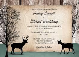 buck and doe invitations wedding invitations deer rustic woodsy