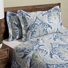 Duvet Overstock Crystal Palace 100 Percent Cotton Print 3 Piece Duvet Cover Set