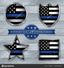 Flag Law Police Support Flag Badge Illustration U2014 Stock Vector