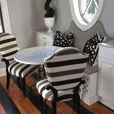Black And White Striped Dining Chair White And Black Bistro Dining Chairs Design Ideas