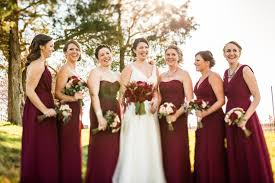 Wine Colored Bridesmaid Dresses Emily And Nick Lindsay King Photography
