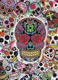 dia de los muertos sugar skulls jigsaw puzzle ethnic day of the dead dia de los muertos sugar