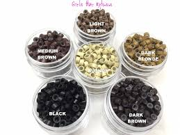 micro rings girlis luxury hair extensions 4 5mm micro rings silicone for stick