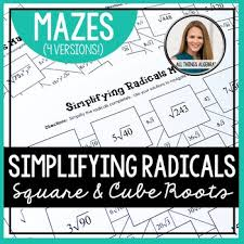 simplifying radicals mazes square and cube roots by all things
