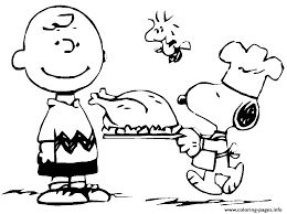 peanuts thanksgiving snoopy coloring pages printable