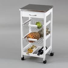 kit closet 7040028012 cart de cuisine avec panier et port bouteille