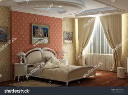 3d rendering bedroom big double bed stock illustration 63360721 bedroom with the big double bed with white bed design in classical