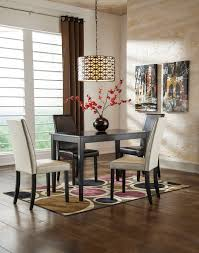 Interior Design Uph Kimonte Rectangular Table 2 Ivory Uph Side Chairs U0026 2 Brown Uph