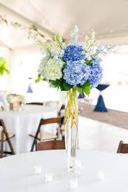 hydrangea centerpiece blue and white hydrangea centerpiece summer blue white