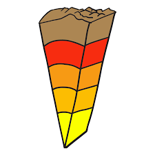 layers of the earth clipart