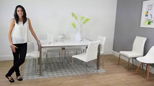 White Gloss Extendable Dining Table Casa White Gloss Extending Dining Table Youtube