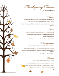 thanksgiving day menu template 28 images free printable