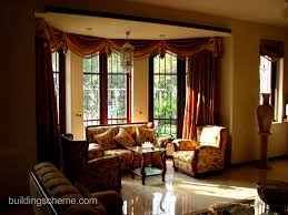 Living Room Curtains Blinds Window Bay Window Rods Bay Window Curtain Ideas Blinds For