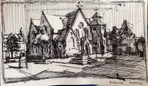 8x10 resume paper dumfries house residency jonshannonrogers com old church cumnock dhr ink on paper 8 x 10 2014