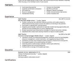Mathematics Teacher Resume Sample by Extraordinary Design Teacher Resume Sample 8 17 Best Ideas About