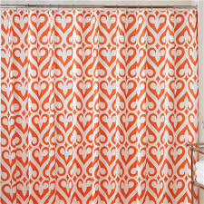 Orange Shower Curtains Orange Shower Curtains Decor By Color