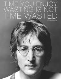 black and white lennon quote text inspiring picture on