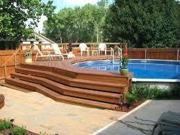 in ground pool decks amazing above ground pool ideas with decks 5