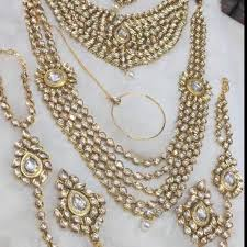 wholesale necklace set images Bridal jewellery set kundan chain haathphool wholesale trader jpg
