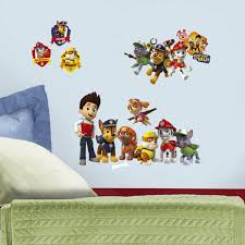 cartoon wall stickers cartoon wall decals wall sticker shop roommates paw patrol wall decals