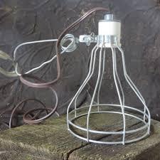 Vintage Porcelain Light Fixtures Vintage Industrial Lighting Wire Cage Clamp Light Leviton