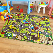 Childrens Play Rug by Superb Childrens Kids Rug Construction Site Road Map Play Mat