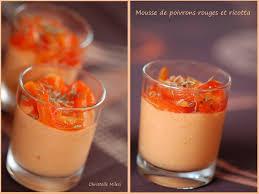cuisiner les poivrons rouges recette de mousse de poivrons rouges et ricotta la recette facile