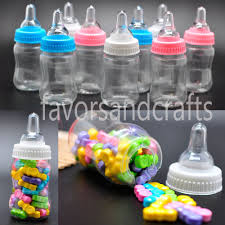 Baby Shower Bottle Favors 24 Fillable Bottles For Baby Shower Favors Blue Pink Party