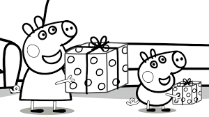 free colouring sheets peppa pig dessincoloriage