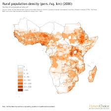 Population Map Rural Population Density Pers Sq Km 2000 Harvestchoice