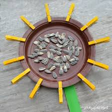 clothespin sunflower craft for kids the resourceful mama
