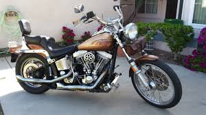 1985 harley davidson fxst softail brown gold oceanside