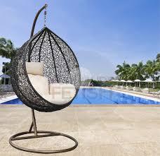 hanging egg chair cream cushion