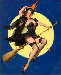vintage witch costume details about vintage pin up halloween witch cross stitch pattern